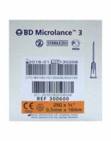 BD MICROLANCE 3, G25 5/8, 0,5 mm x 16 mm, orange  à MONTPEZAT-SOUS-BAUZON